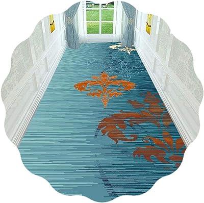 JIAJUAN Hallway Runner Rug Gradual Color Non Slip Foyer Entry Modern Area Rugs Indoor Low-Profile Soft Floor Runners (Color : Blue, Size : 1.2x6m)