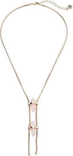 Double Crystal Dainty Necklace