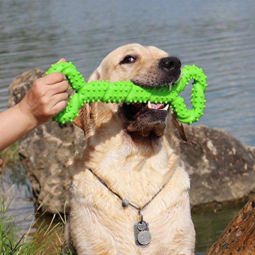 Giochi da masticare resistenti per cani grandi 13 pollice Forma dell\'osso Giocattoli per cani con Design convesso duri giochi interattivi per per cani piccoli e grandi