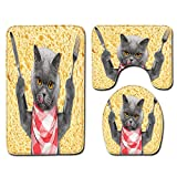 DREAMING-Badezimmer Teppich Tier Bodenmatte rutschfeste Bodenmatte Set Home Decoration Türmatte...