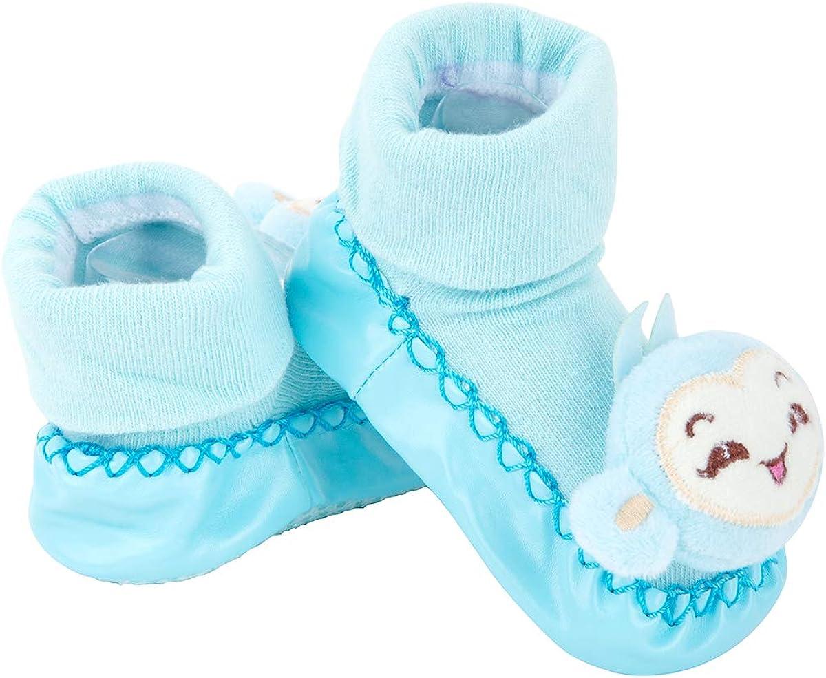 DCP Infant Baby Cotton Booties Anti Slip Floor Slipper Shoes Socks Grippers Winter Warm Nursling Crib Shoes