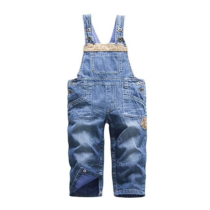 Mud Kingdom Toddler Boys Cute Denim Overalls