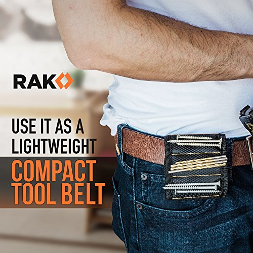 Product Image 2: RAK Magnetic Wristband with Strong Magnets for Holding Screws, Nails, Drill Bits for DIY Handyman, Father/Dad, Husband, Boyfriend, Him, Men, Women (Black)