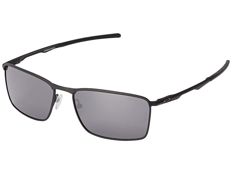 Oakley Conductor 6 (Matte Black W/Black Iridium) Sport Sunglasses