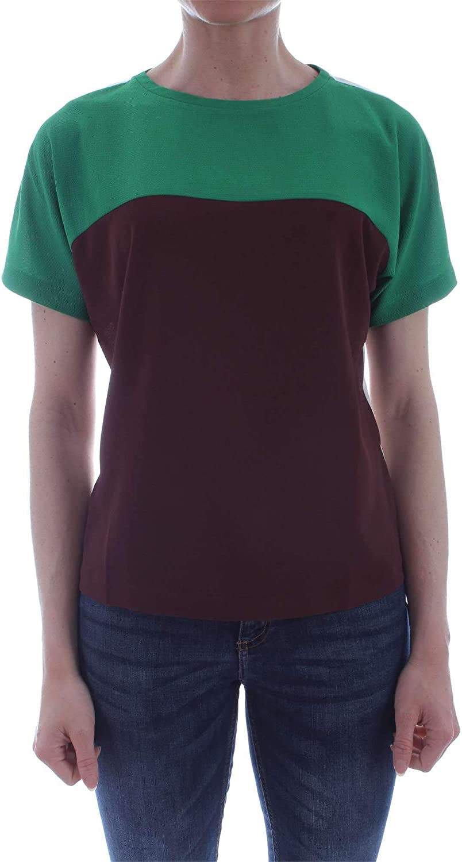Marella Sport Women's 39710595BROWN Brown Polyester TShirt