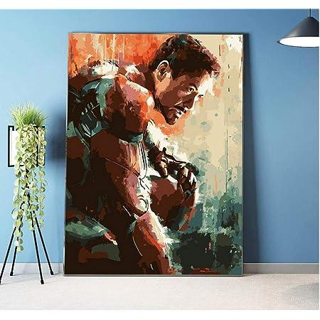 Bild An Wand Acrylfarbe Nach Zahlen DIY Malen Nach Zahlen Einzigartiges /Ölgem/älde The Avengers Doctor Strange Mit Gerahmten 40x50cm