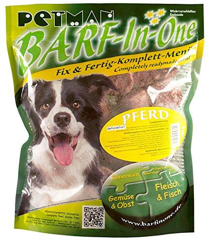petman Barf-in-One Pferd, 6 x 750g-Beutel, Tiefkühlfutter, gesunde, natürliche Ernährung für Hunde, Hundefutter, Barf, B.A.R.F.