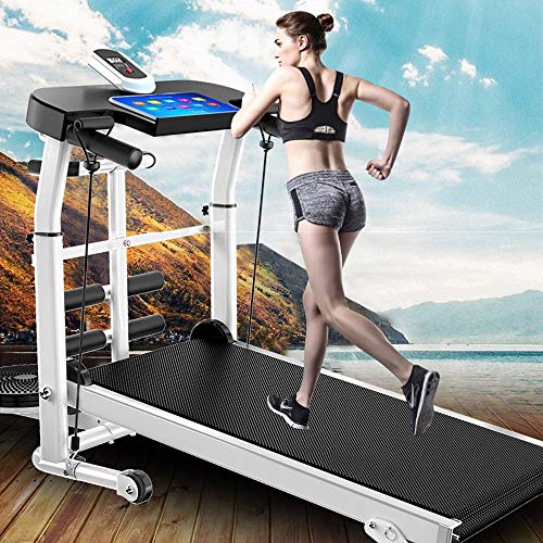 ROYWY Treadmill Folding Running Machine Electric Motorized Treadmill with Safety Key 12 Preset Programs Wide Running Belt Comfortable Handlebar for Home Exercise