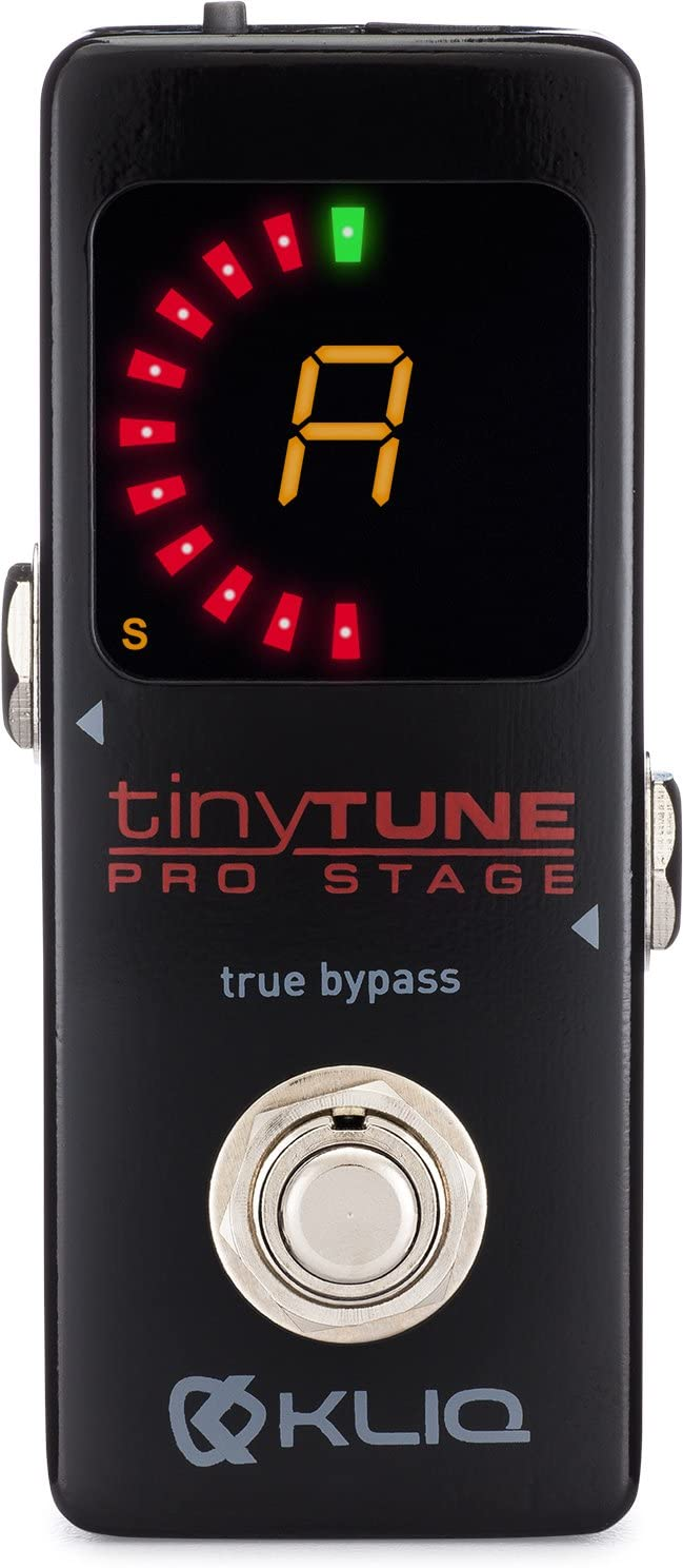 KLIQ TinyTune Pro Stage Tuner Pedal Guitar and with Fees free Tru Max 51% OFF for Bass