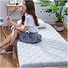 Tatami Mattress, Japanese Futon Mattress Topper Anti-Slip Foldable Cotton DormMattressTopperTwin/Full/Queen/King Size P...