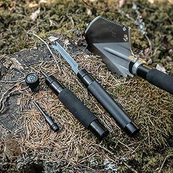 EST Gear Pelle de Survie   L'outil Ultime de Survie   Vitesse Militaire Pelle Pliante   Compact Tactique enchâssement Outil Parfait pour Le Camping, randonnée et urgences