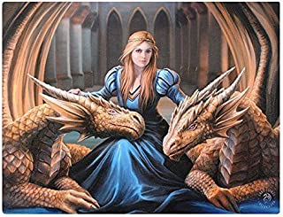 Small Fierce Loyalty Canvas Picture By Anne Stokes 26cm x 19cm x 1cm