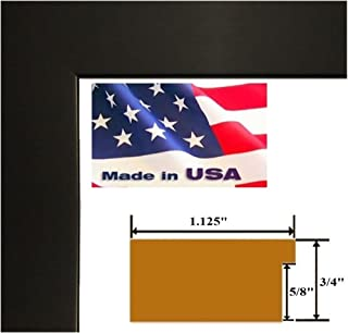 US Art 12x36 Custom Black 1.125 inch Picture Poster Photo Frame Solid Wood #CTM1125