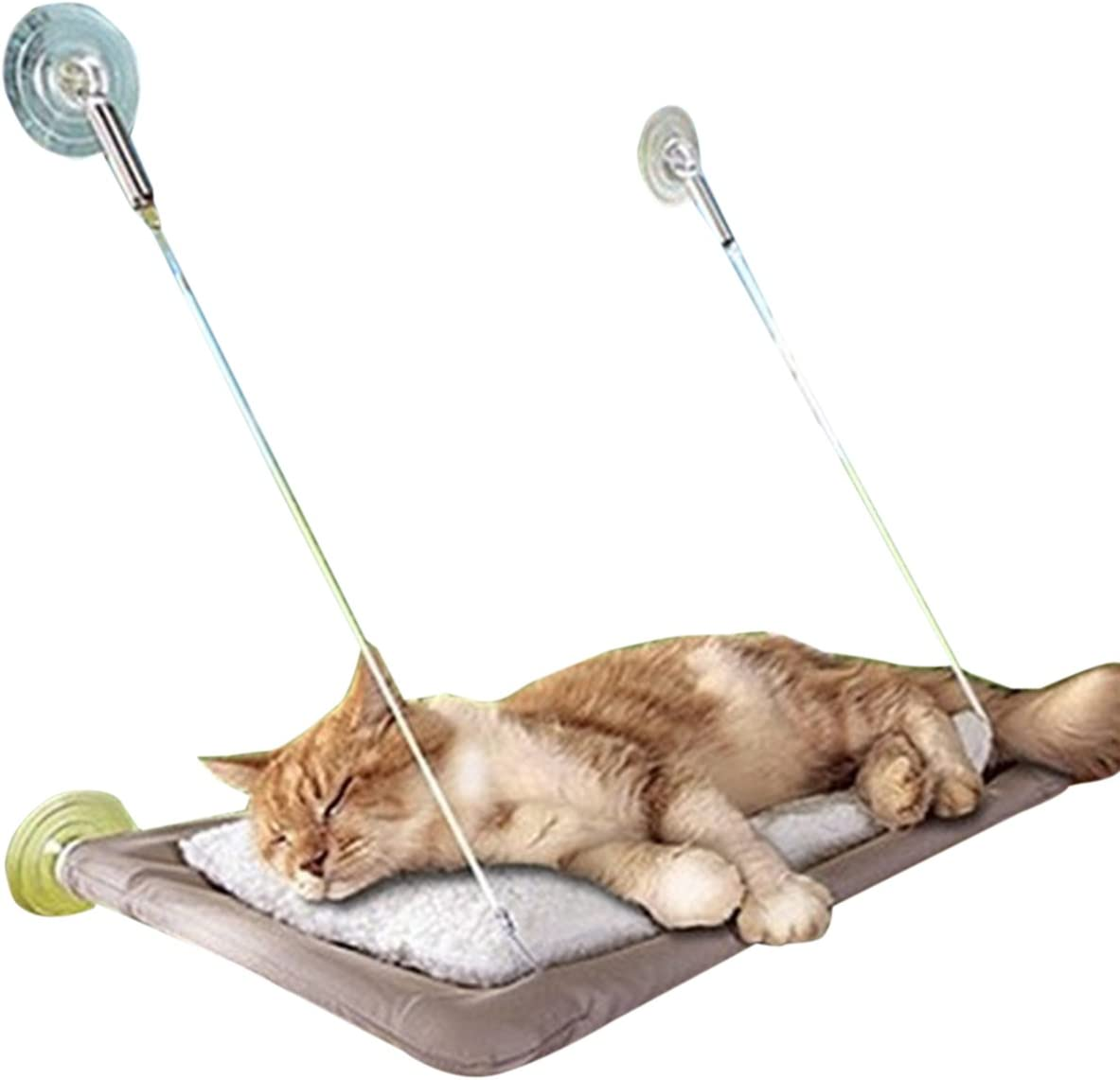 Adorrable Cat Hammock Window Mounted Si New product Kitty Max 83% OFF Sunny Resting Seat