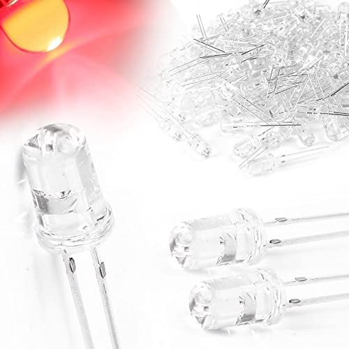 2021 Mallofusa 500Pcs 5mm sale LED Light Emitting Diode LED Lamp Kit outlet sale 20000 mcd Red sale