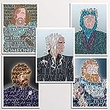Game of Thrones 5x7' print set | Daenerys | Tyrion | Tormund | The Hound | Lady Olenna| Typography Word Art | wall home decor