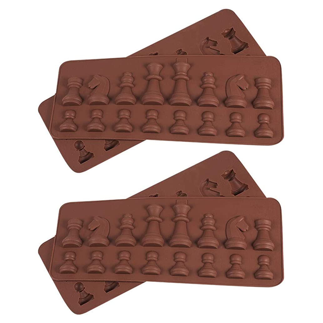 PH PandaHall International Chess Shape Silicone Mold for Resin Epoxy, Earring Necklace Making and DIY Jewelry Craft Making, Coconut Brown