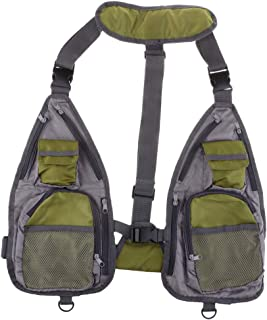 Perfeclan Fly Fishing Vest Multifunction Breathable Chest Bag Adjustable for Men and Women