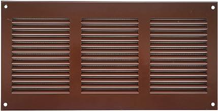300x100mm bruin ventilatierooster afsluitrooster insectenbescherming afvoerlucht toevoer metalen rooster