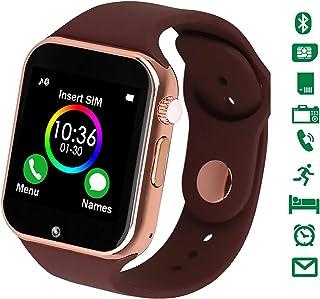 スマートウォッチ 2019最新版 活動量計 smart watch 通話対応来電通知 フルタッチ ウォッチ 多機能 時計 健康 カメラ搭載 ブルートゥース 腕時計 sim/TF対応 ボイスレコーダー 着信通知 時計 watch 日本語説明書付き