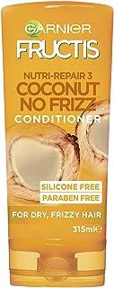 Garnier Fructis Coconut No-Frizz Conditioner for Frizzy Hair, 315ml