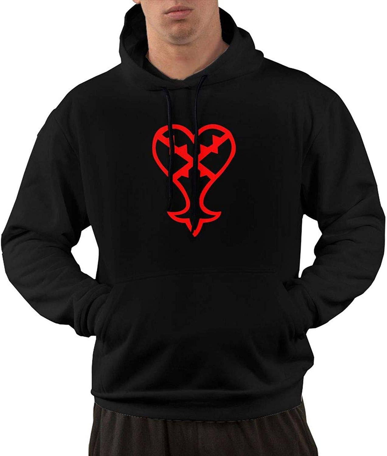 - YoungerMan Unisex Sweatshirts Hooded - Heartless Logo (Red) (Red) (Red) Kingdom Hearts 6623d2