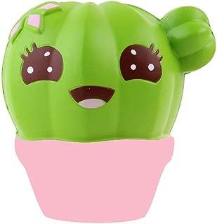REDNOW 1PC Rainbow Strawberry Squishy Super Jumbo Scented Slow Rising Rare Fun Toy (Cactus)