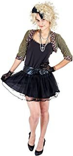 Women's 80's Pop Star Costume Cosplay for Halloween Theme Party