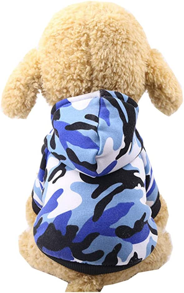 XS, Camouflage army green Kitten Puppy Jumper Sweater Costumes Dog Sweatshirts Adorable Wearing Stylish Cozy Halloween,Christmas Morbuy Pet Cat Dog Clothes Costume Camouflage