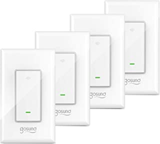 Gosund Smart Light Switch, In-wall Wifi Smart Switch that...