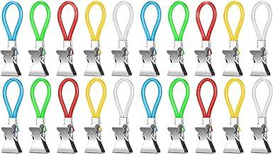 Voarge 20 stuks hangers voor handdoeken, 5 kleuren handdoekclip hanger badkamer accessoires, voor keuken handdoeken, handd...