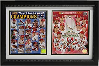 Encore Select 120-38 MLB St. Louis Cardinals Double Frame 2011/2006 World Series Champion Print, 12-Inch by 18-Inch