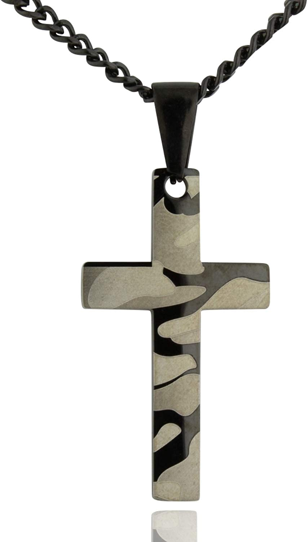 Soul Super beauty product Oklahoma City Mall restock quality top Statement Men's Camo Cross Christian Pendant Charm Necklace