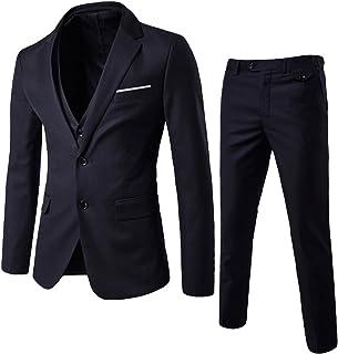 Trajes para hombre de 3 piezas Regulador Slim Fit Boda Tuexedo Traje para Hombres Negocios Casual Trajes de Boda Chaqueta Blazer Chaleco Pantalones