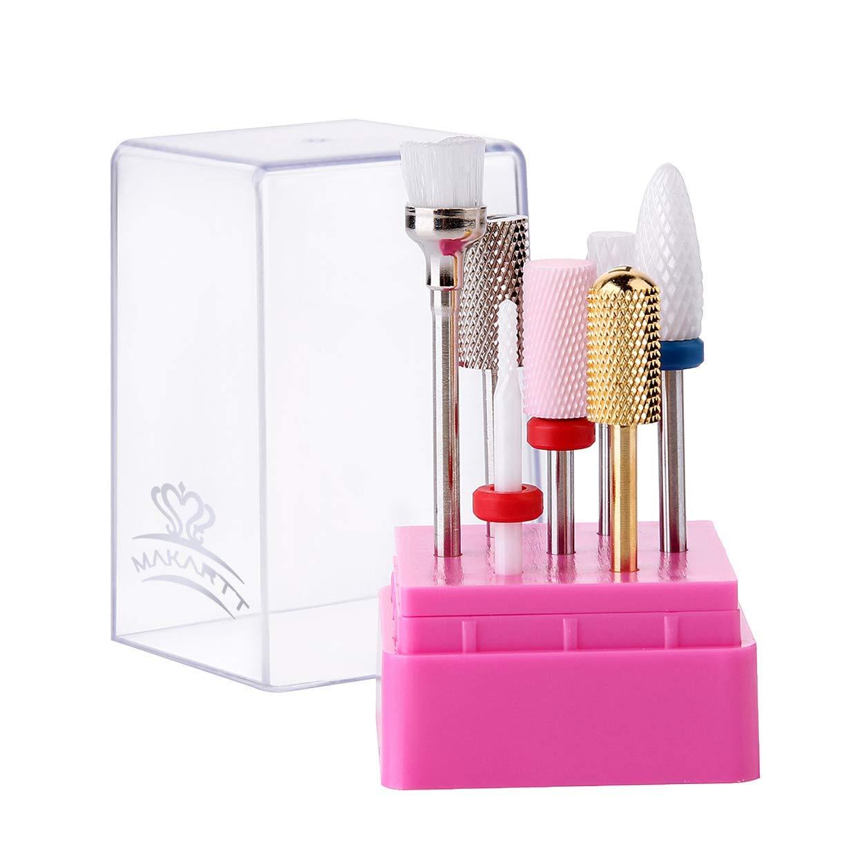 Makartt Nail Drill Bit Set 7PCS Rem Safety 5 ☆ very popular Sale Special Price Bits 3 32