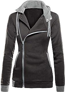 Joe Wenko-CA Womens Fall Winter Fleece Coat Outwear Oblique Zipper Jacket