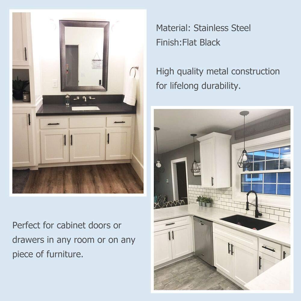 Homdiy Black Cabinet Pulls Modern Hd201bk Kitchen Door Handles 3 5 In Matte Black Cabinet Hardware 15 Pack Drawer Pulls Amazon Com