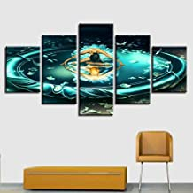 JCILZX Posters Art HD Printing 5 Pieces Gemini Constellation Canvas Painting Modular Picture Frame Artworks Decor Home Living Room Wall