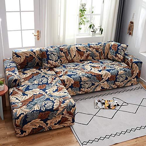 PPMP Funda de sofá elástica elástica, Utilizada para la Funda de sofá de Spandex de la Sala de Estar, Funda de sofá, Toalla de sofá elástica, Forma de L, Funda de sofá A16 de 4 plazas