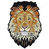 EMDOMO Parches de Hierro en la Parte Trasera Bordados león para reparación de Ropa Pegatina Accesorios de Costura 1 Pieza
