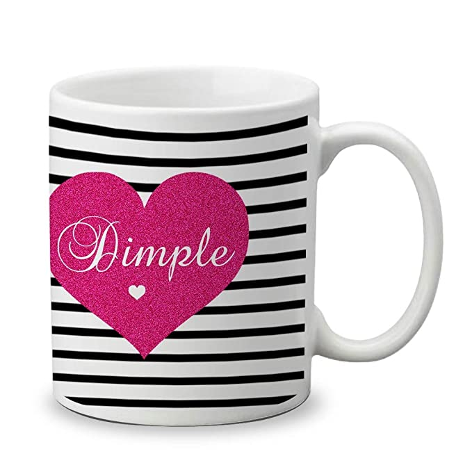 Beautiful Simple Dimple Name Ceramic Coffee Mug Gifts for Birthday