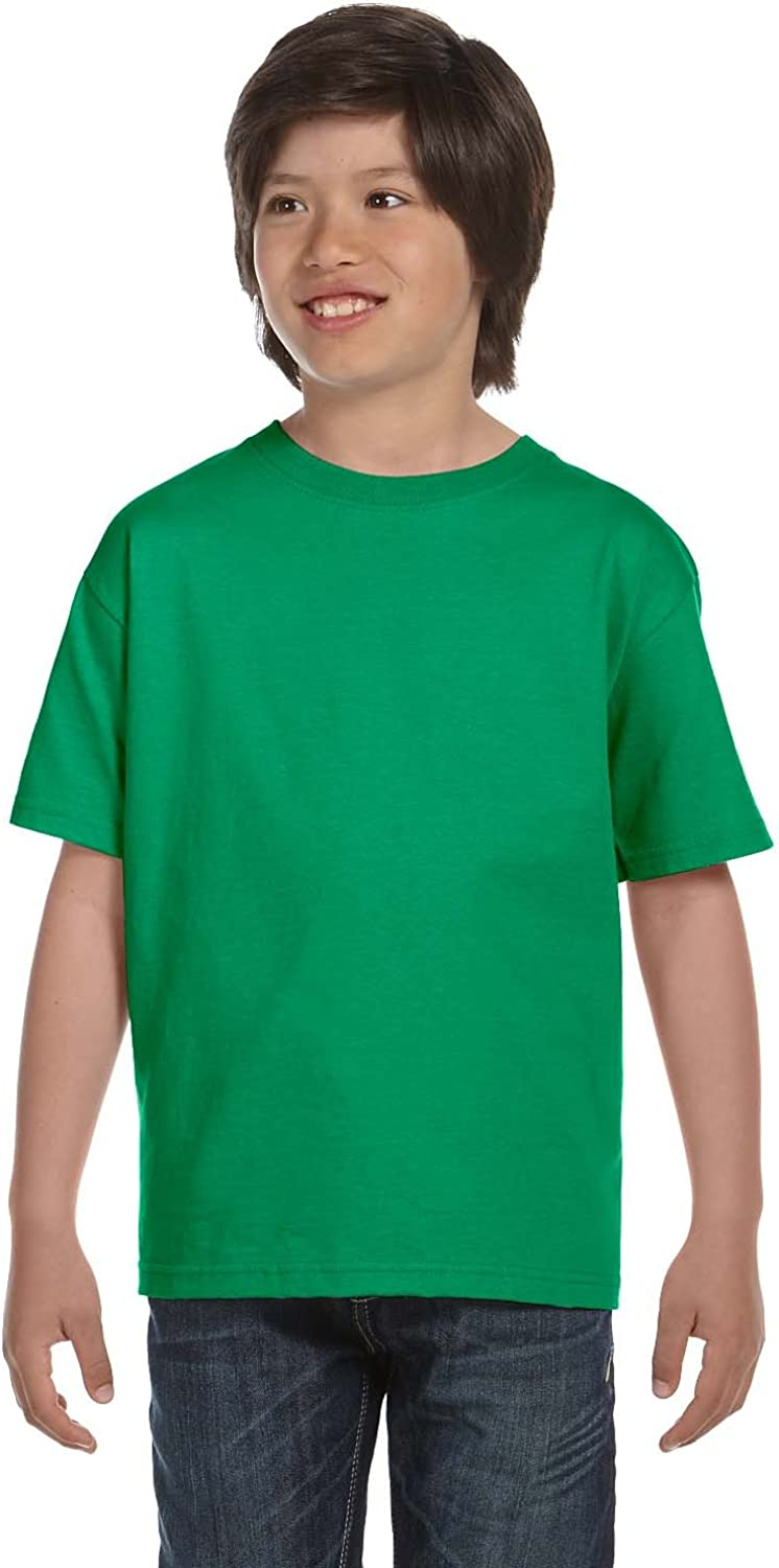By Hanes Youth 61 Oz BEEFY-T - Kelly Green - XS - (Style # 5380 - Original Label)