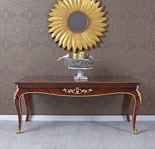 Wohnzimmertisch Barock Sofatisch Couchtisch Intarsien Tisch Massivholz Palazzo Exklusiv