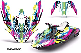 AMR Racing Jet Ski Graphics kit Sticker Decal Compatible with Sea-Doo Spark 3up 2015-2018 - Flashback