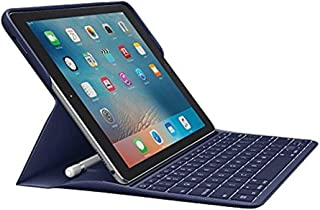 Logitech Create: Backlit Wireless Keyboard with Smart Connector For iPad Pro 9.7 Inch (Blue) - Will NOT fit Other Models or Other Sizes! ONLY fits iPad Pro 9.7 Inch (Renewed)