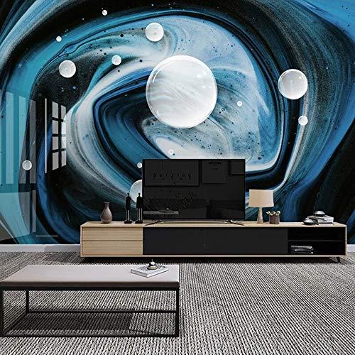 Mural personalizado azul moderno creativo 3D abstracto cielo estrellado arte pared pintura sala de estar sofá TV Fondo foto papel tapiz