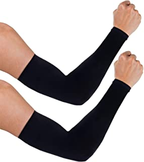 aegend 2 Pairs Arm Warmer Sleeves UV Protection UPF 50 Sun Sleeves for Men Women Youth