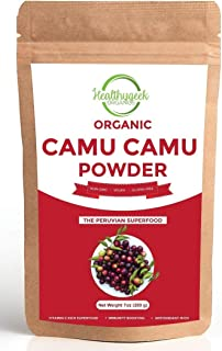 Organic Camu Camu Powder, 100% Pure, Freeze Dried, Non-GMO and Gluten-Free, Immunity Boosting and Vitamin C-Rich Superfood...