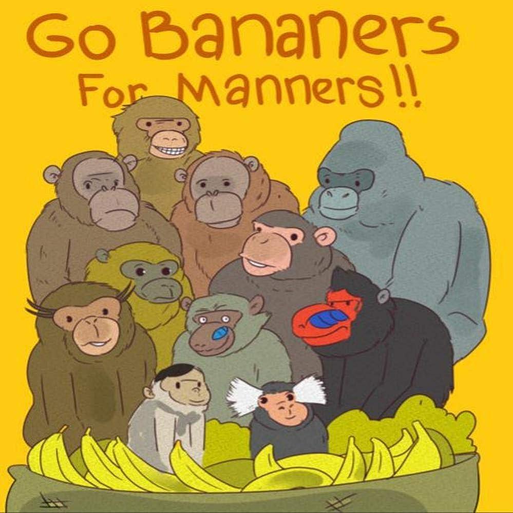 黒くする伝統資格情報Go Bananers for Manners (English Edition)