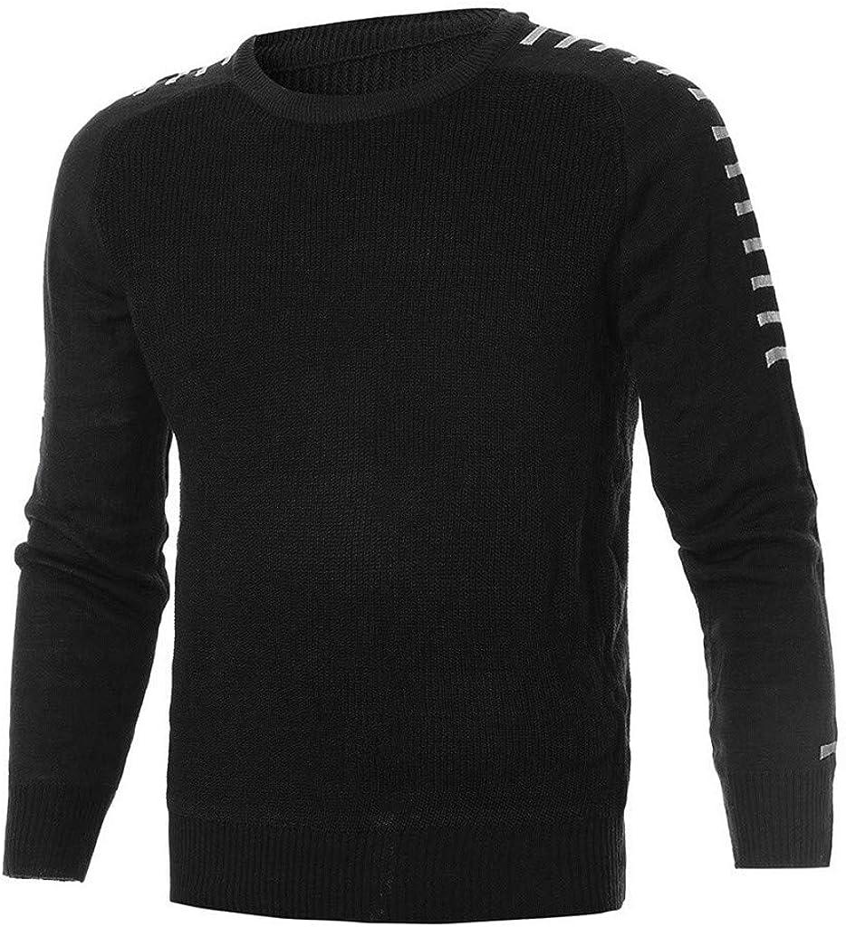 MODOQO Men's Sweaters Long Sleeve O-Neck Warm Soft Slim Fit Pullover Knitwear